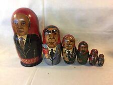 6 tlg. Babuschka Matruschka Matroschka Matrjoschka Sowjet Präsidenten Russland
