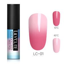 LILYCUTE Thermal Gel Polish Color Changing Soak Off Nail Art Gel Varnish 5ml