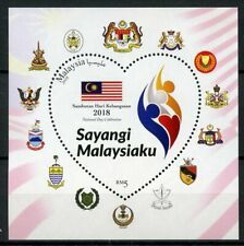 Malaysia 2018 MNH National Day Celebration 1v M/S Flags Cultures Stamps