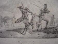 Litho Horace VERNET L'apprenti Cavalier ANE QUI RUE SOLDATS INFANTERIE NAPOLEON