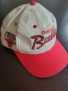 Vintage white red Cap Chicago Bulls Snapback NBA official licensed