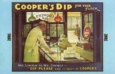 Postcard Nostalgia 1900's COOPERS DIP for your Flock Advertising Repro Card