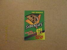 Afl San Jose Sabercats Vintage 1997 Pocket Schedule