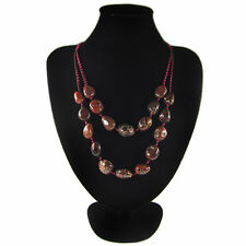 Flame Jasper Hand-crocheted Necklace DE702043