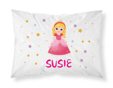 Personalised Children Princess Pillowcase Printed Gift Custom Made Print 103