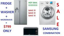 SAMSUNG COMBINATION HOT DEAL : 690L FRIDGE + 10Kg WASHING MACHINE + MICROWAVE.