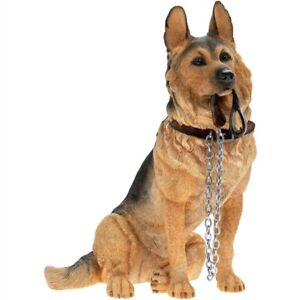 "Leonardo Collection German Shepherd Alsation Dog Sitting With Lead ""Walkies"""