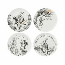 New Creative Tops V&A Alice Wonderland Fine China Gold Gift Boxed Side Plate Set