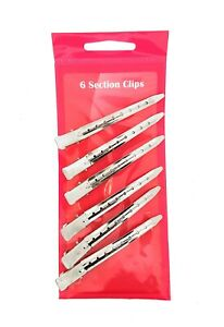 SERENADE - 6 Pack Stainless Steel Sectioning Hairdressing Clips
