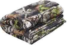 Next Vista Camo Plush Throw Blanket, Coral Fleece Camouflage 48 x 60