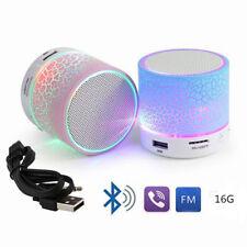 Hot LED Light Mini Bluetooth Speakers Wireless Bass Speaker With TF USB FM Radio