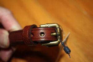 NWT POLO Ralph Lauren UNISEX Brown or Black Leather Buckle Wrist Strap Bracelet