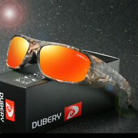 DUBERY With Box Men HD Polarized Sunglasses Driving Women Sport Outdoor Glasses