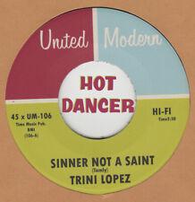 R&B/RERPO: TRINI LOPEZ - Sinner Not A Saint/If UNITED MODERN - SOUL CLUB DANCER