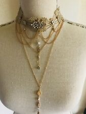 necklace lace layered boho rockabilly gothic quirky statement