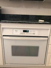 "Whirlpool 30"" white elc slide in self cleaning oven Very clean and slightly used"
