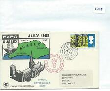 GB - SOUVENIR COVER - 1104- SPECIALS - 1968 - EXPO SUSSEX - JULY -  BALLOON MAIL