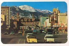 Pikes Peak Avenue Antlers Hotel Colorado Springs, Colorado Chrome Postcard