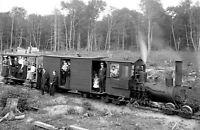 """1906 Excursion Train, Harbor Springs, MI Vintage Photograph 11"""" x 17"""" Reprint"""