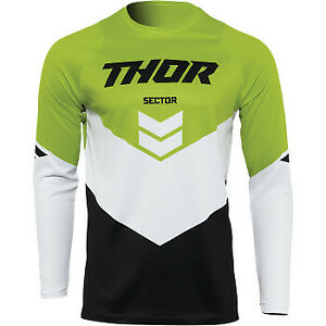 Thor 2022 Youth Sector Chevron Jersey Black/Green 2XS