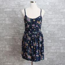 NWT Hollister Womens Floral Dress Navy Medium