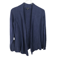Eileen Fisher Womens Sweater Size XS Blue Open Front Knit Long Sleeve Cardigan