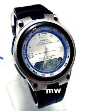 Casio Fishing Gear Moon Data Analog Digital Silver Dial Watch AW-82 AW-82-7A