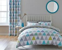 Catherine Lansfield Scandi Geo Multi Easy Care Duvet Cover Set and Accessories