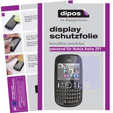 2x Nokia Asha 201 Schutzfolie klar Displayschutzfolie Folie unsichtbar Passgenau