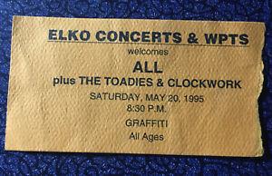 All Toadies Clockwork Concert Ticket Stub 5-20-95