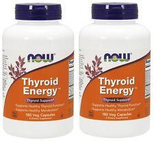 Now Foods Thyroid Energy, 180 Veg Capsules, 2 Pack