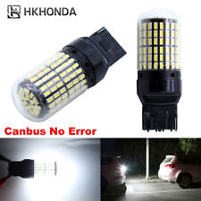 2pc White T20 Car Light Bulbs 12V 7440 LED Lamp Turn Signal No Hyper Flash