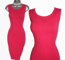 Karen Millen Coral Texture Bandage Knitted Pencil Casual Formal Dress 3   UK 14