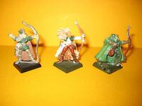 Warhammer - Waldelfen - Wood Elves - 3x metal Archers - Bogenschützen