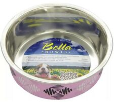 Loving Pets Argyle Bella Bowl for Pets,1-Pint,Pink (7703)stainless steel Small