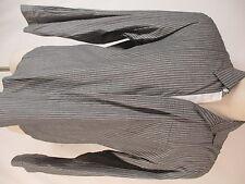 John Varvatos Mens Grey Stripe Long Sleeve Cotton Silk Shirt XL