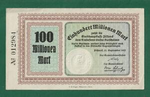 GERMANY - Notgeld POßNECK 100,000,000 Mark 1923 - Scarce a/UNCIRCULATED - LOOK!