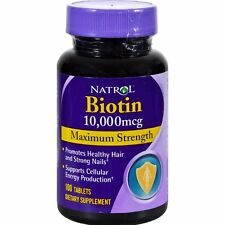 Natrol Biotin Maximum Strength 10,000 mcg 100 Tablets Hair, Skin Nails NF23