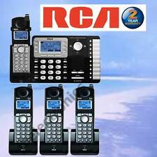 RCA 25252 DECT 6.0 2-LINE 4 CORDLESS BUSINESS PHONES W/ANSWERING MACHINE NEW