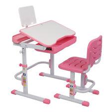 Adjustable Height Children's Desk Chair Set Child Study Desk Kids Study Table