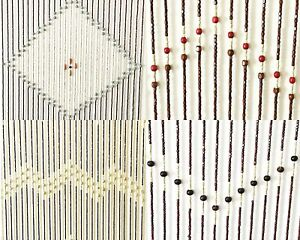 Wooden Beaded Door Curtain 4 Designs Blind Fly Screen Wooden Curtains 180 x 90