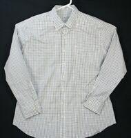 Peter Millar Nanoluxe Easy Care Long Sleeve Shirt Check Men's Size XL