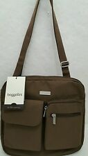 Baggallini for life's journey mushroom brown Canyon Crossbody Shoulder Bagg NWTs