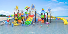 125x90x30 Commercial Water Park Playground Splash Pad Kids Pool Slide We Finance