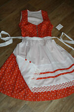 kl4621 @ Minable Dirndl Vêtement traditionnel+Tablier @ Vintage@ORANGE-BLANC@