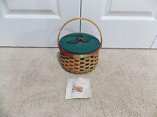 * Longaberger * 2003 Caroling Basket Combo (Lid, Liner, Protector)