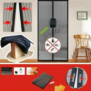 Magnetic Mesh Door Net Screen Insect Bug Mosquito Fly Insect Mesh Guard New