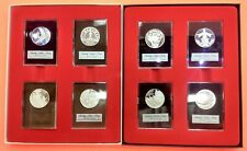 Franklin Mint Sterling Silver Winter Holiday / Christmas Round Coin Set 925