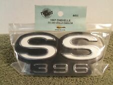 67 1967 Chevrolet Chevelle Super Sport SS396 Grille Emblem Made in USA