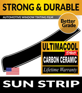 UCD PRECUT SUN STRIP WINDOW TINTING TINT FILM FOR CHRYSLER CROSSFIRE COUPE 04-08